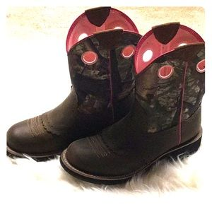 Ariat Leather & Camo Boots